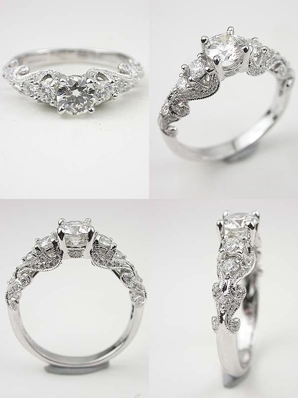 Antique-Style-Vintage-Wedding-Engagement-Rings