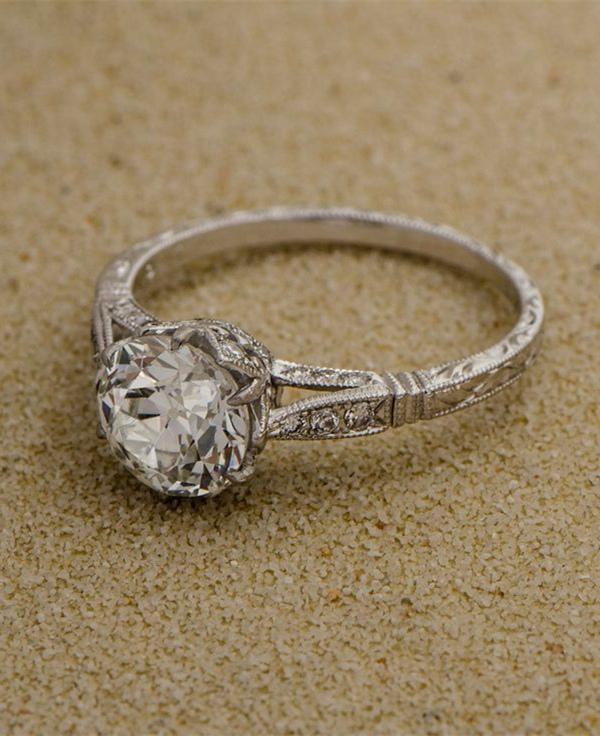 Estate-Diamond-Vintage-Wedding-Engagement-Ring