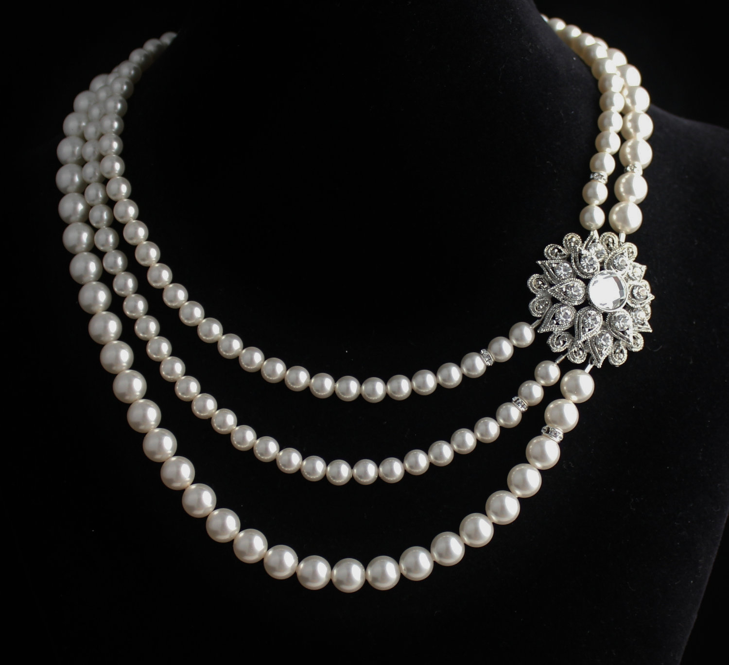 elizabethan bliss drop jewellery teardrop chain pearl pearls shakespeare shop collar white jewelry accessories necklace inspired pure